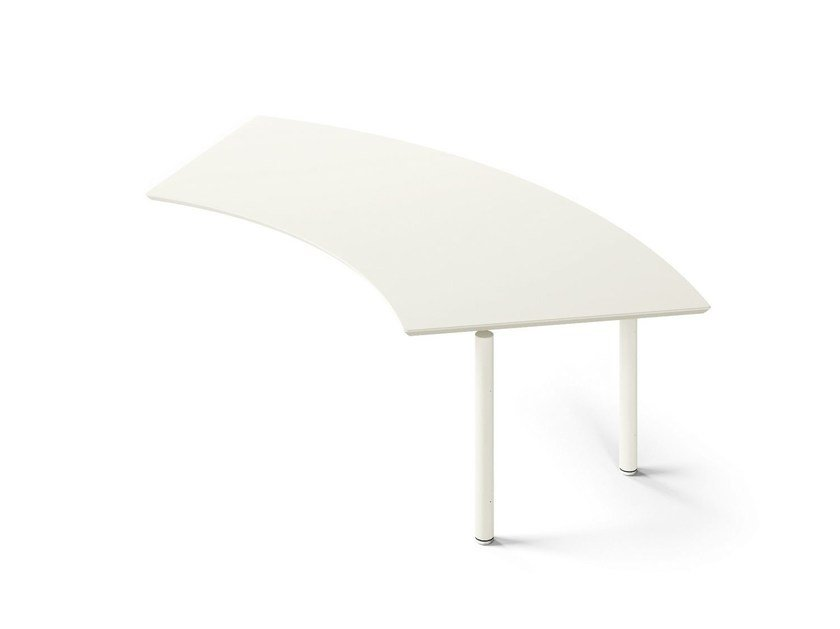 Wall-mounted lacquered office desk MÈTA | Wall-mounted office desk - FANTONI
