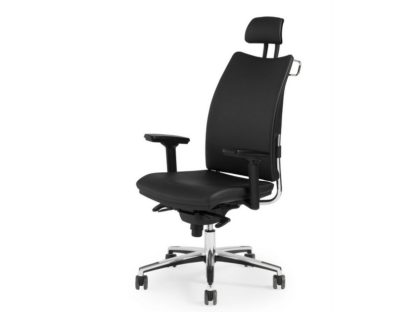 Recliner leather executive chair THYME EXECUTIVE   Leather executive chair - FANTONI