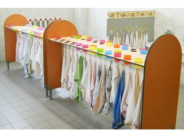 Toothbrush holder / towel rack Towel rack by GES Group