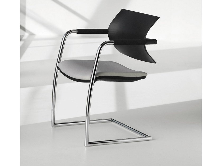 Cantilever reception chair with armrests VANILLA HOSPITALITY | Cantilever chair - FANTONI