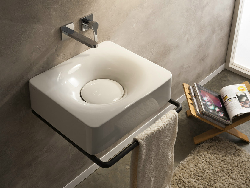 Wall-mounted ceramic washbasin FUJI | Wall-mounted washbasin - Scarabeo Ceramiche