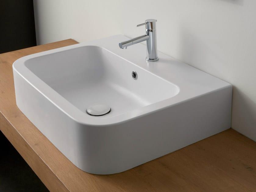 Countertop rectangular ceramic washbasin NEXT 60B - Scarabeo Ceramiche