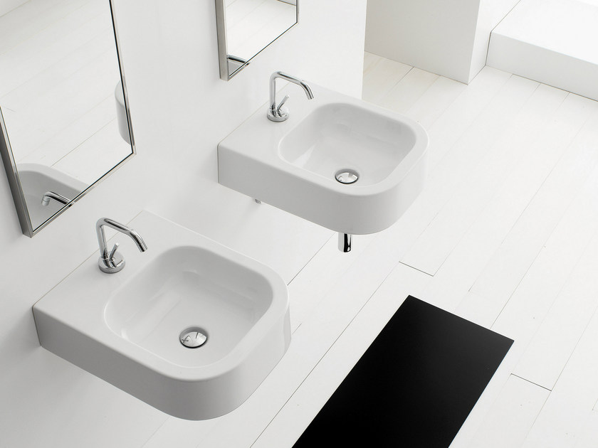 Wall-mounted ceramic washbasin NEXT 40B - Scarabeo Ceramiche