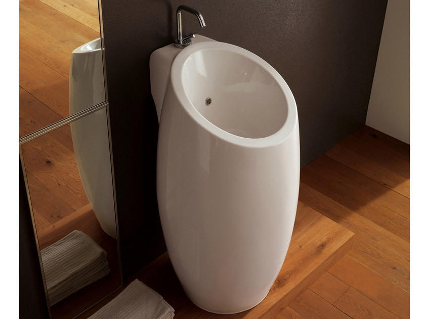 Freestanding ceramic washbasin PLANET | Freestanding washbasin - Scarabeo Ceramiche