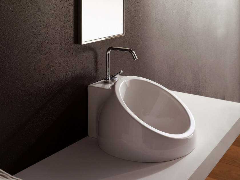 Inset ceramic washbasin PLANET | Inset washbasin - Scarabeo Ceramiche