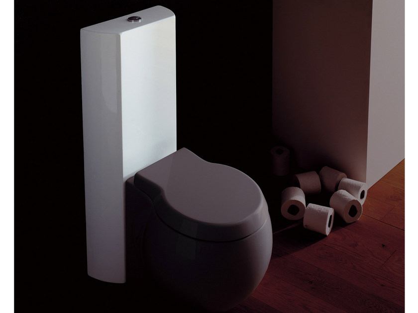 Close coupled ceramic toilet PLANET | Close coupled toilet - Scarabeo Ceramiche