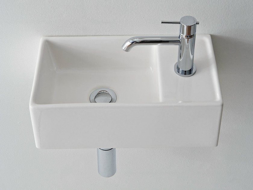 Rectangular ceramic handrinse basin TEOREMA 41X23R - Scarabeo Ceramiche
