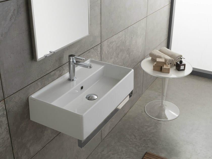 Wall-mounted ceramic washbasin TEOREMA 60X35R - Scarabeo Ceramiche