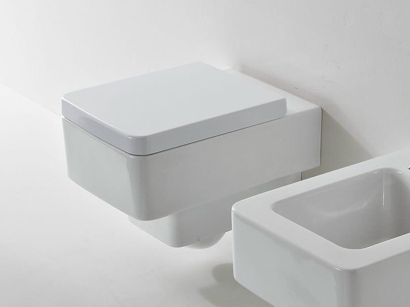 Wall-hung ceramic toilet TEOREMA | Toilet - Scarabeo Ceramiche