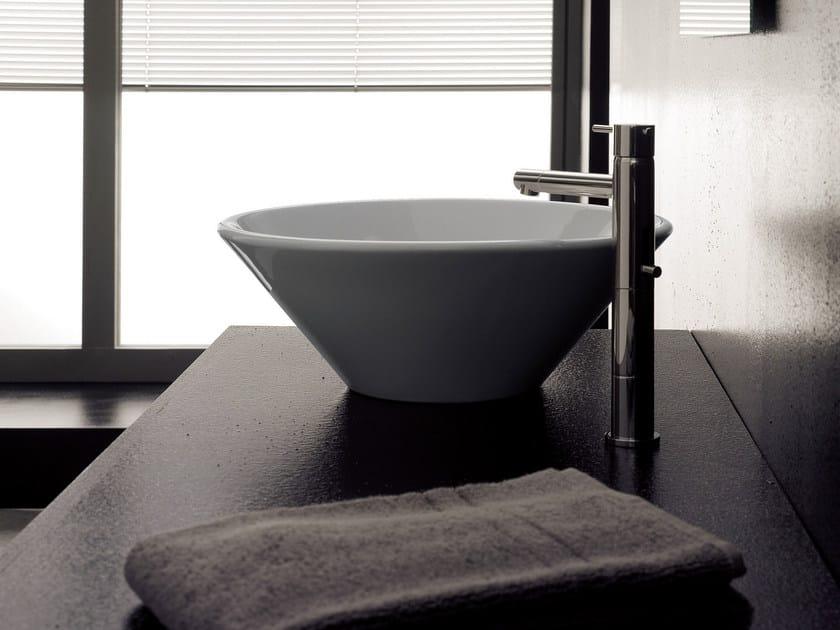 Countertop ceramic washbasin CONO by Scarabeo Ceramiche