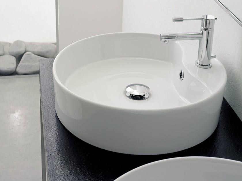 Countertop round ceramic washbasin GEO R - Scarabeo Ceramiche
