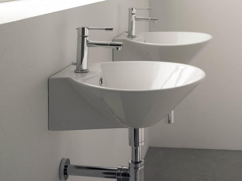 Ceramic washbasin CONO R by Scarabeo Ceramiche