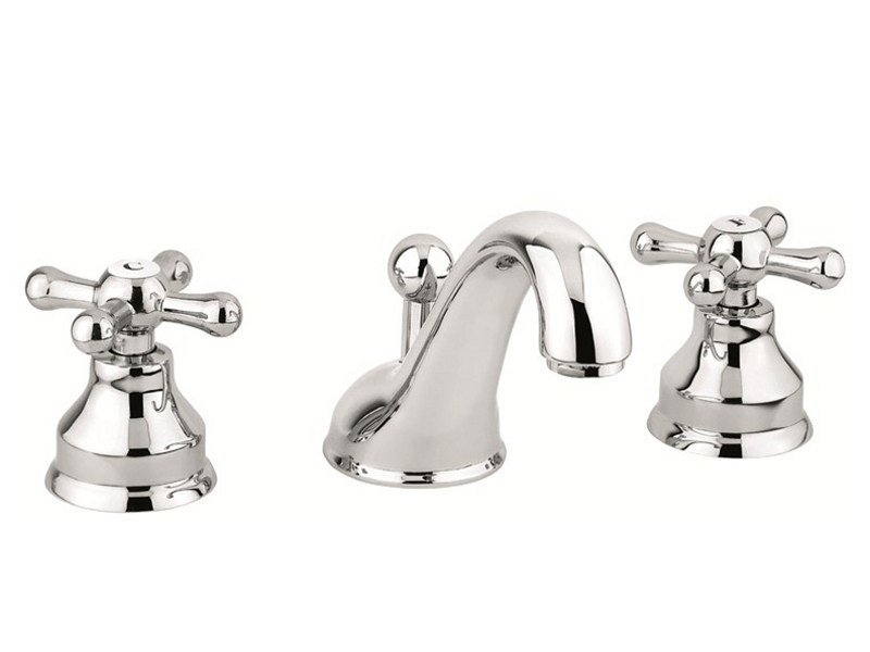 Countertop washbasin tap with automatic pop-up waste 12033 | Washbasin tap - EMMEVI RUBINETTERIE