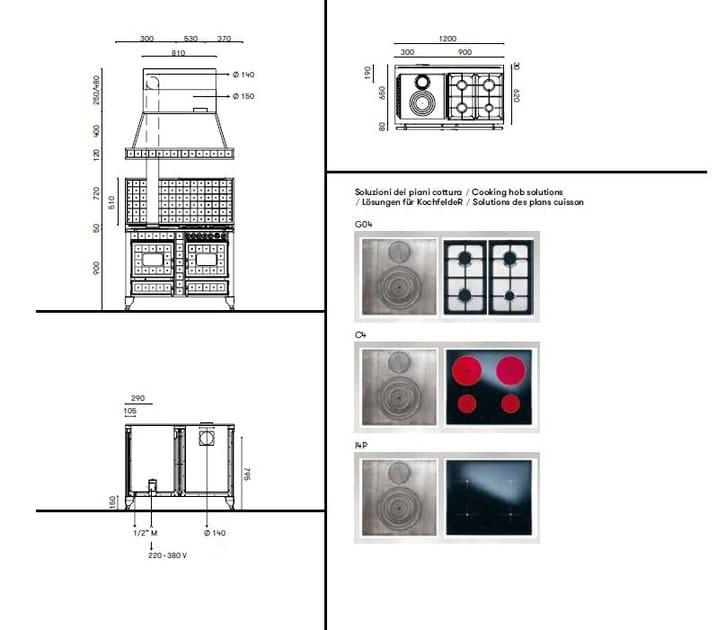Cucina a libera installazione borgo antico 120 lge - Riscaldare casa in modo economico ...