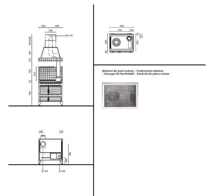 Cucina a libera installazione borgo antico 90 l corradi - Riscaldare casa in modo economico ...