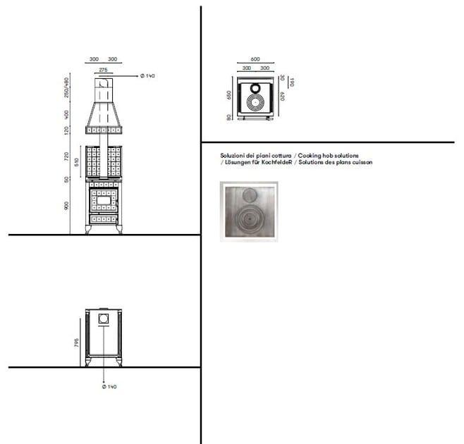 Cucina a libera installazione borgo antico 60 l corradi - Cucine corradi rivenditori ...