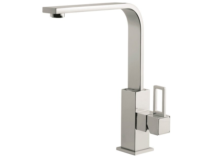 Countertop 1 hole kitchen mixer tap with swivel spout 26007LA | Kitchen mixer tap by EMMEVI RUBINETTERIE