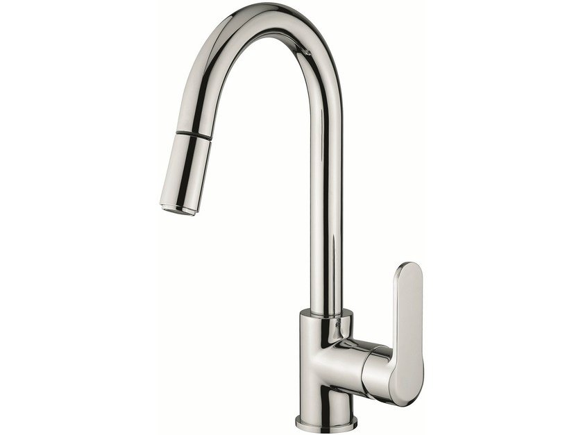 Countertop kitchen mixer tap with pull out spray 77066 | Kitchen mixer tap - EMMEVI RUBINETTERIE
