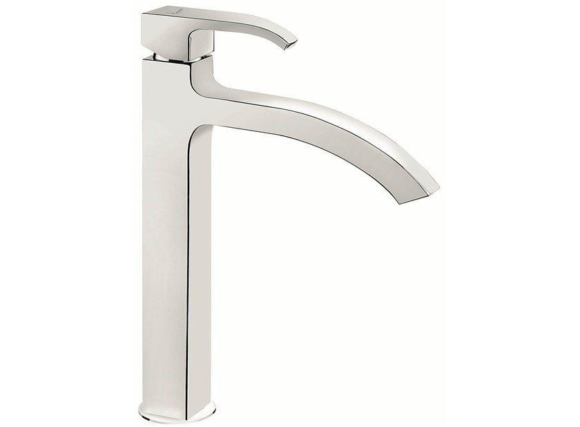 Contemporary style chrome-plated countertop metal kitchen mixer tap with swivel spout 74007 | Kitchen mixer tap - EMMEVI RUBINETTERIE