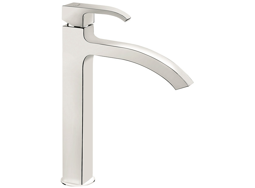 Contemporary style chrome-plated countertop single handle metal washbasin mixer 74003BIG | Washbasin mixer - EMMEVI RUBINETTERIE