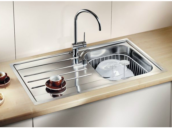 Single built-in stainless steel sink with drainer BLANCO MEDIAN 45 S-IF by Blanco