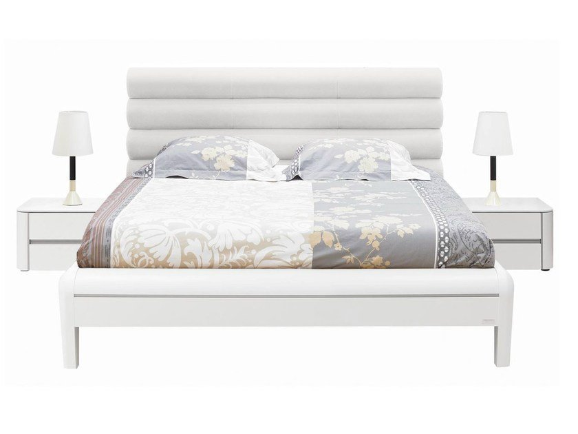 Double bed with upholstered headboard PREMIUM | Bed by GAUTIER FRANCE
