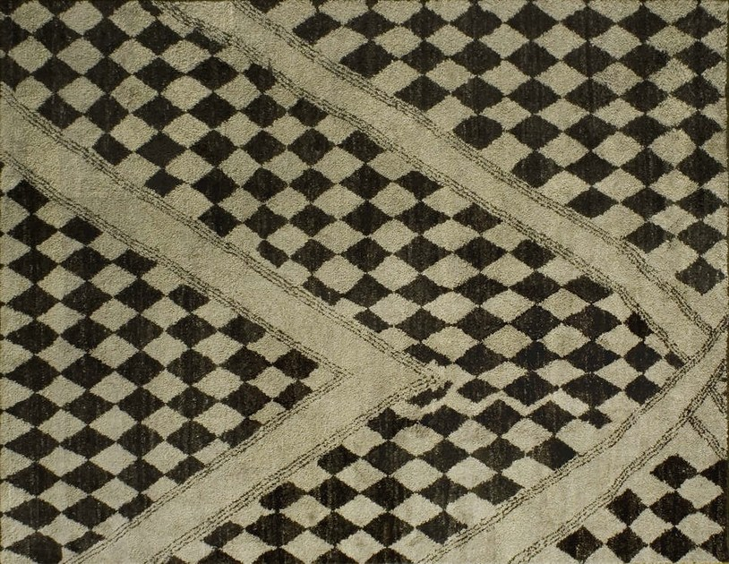 Patterned custom wool rug MR112 | Rug - Mohebban