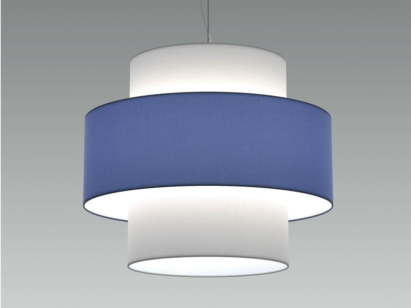 LED fabric pendant lamp RING - Olev by CLM Illuminazione