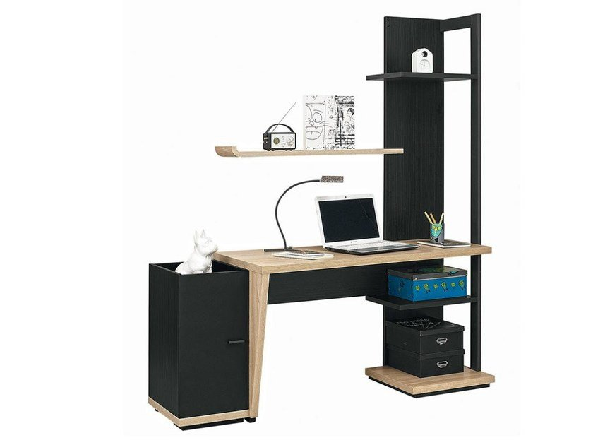 Writing desk with bookcase URBAN - 10 by GAUTIER FRANCE
