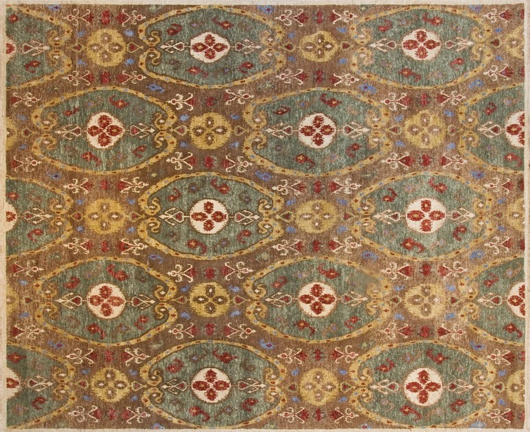 Patterned custom wool rug IT206 | Rug - Mohebban