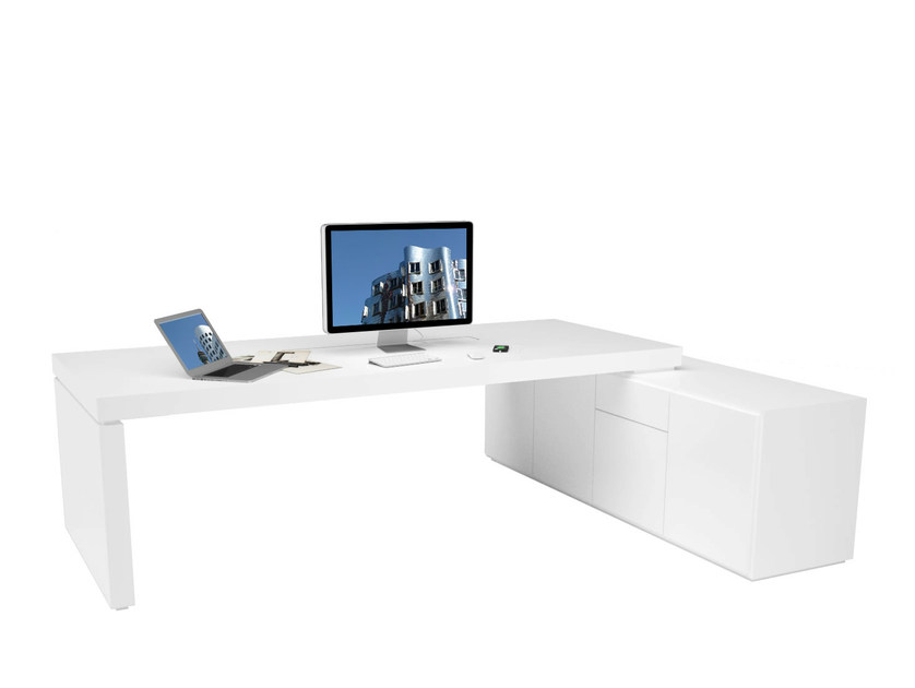 L-shaped workstation desk PRAEFECTUS | L-shaped office desk - RECHTECK Felix Schwake
