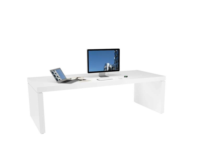 Lacquered rectangular office desk PRAEFECTUS | Office desk - RECHTECK Felix Schwake