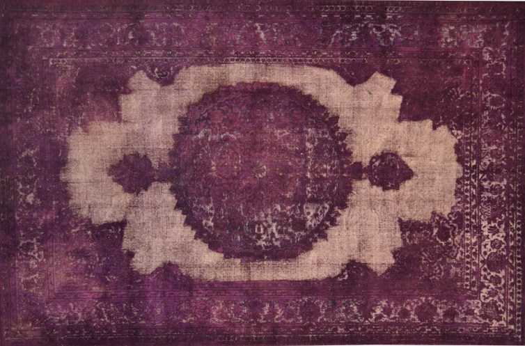 Vintage style custom rug VINTAGE LIGHT PURPLE - Mohebban