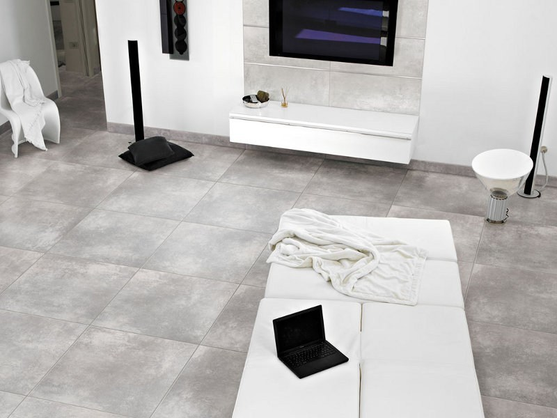 Porcelain stoneware flooring with concrete effect METROPOLIS by Ceramica Rondine