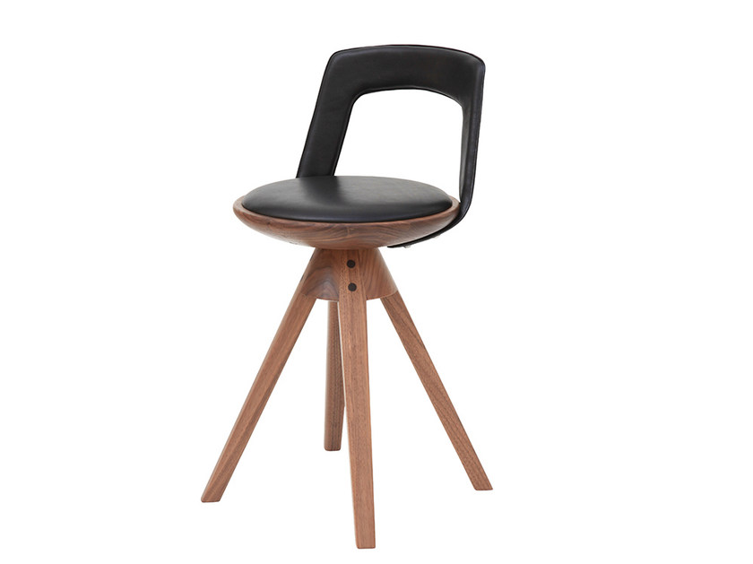 Swivel trestle-based counter stool KINDT-LARSEN - Onecollection