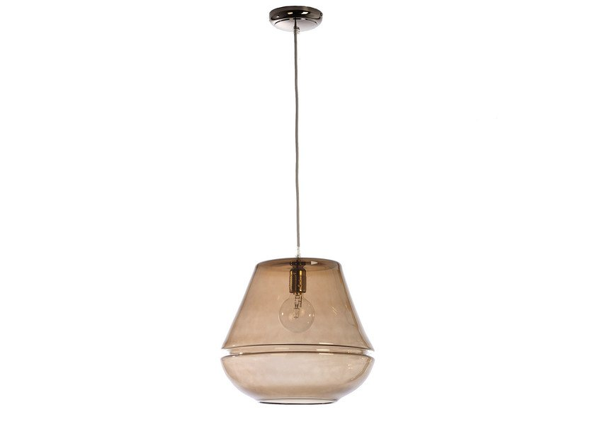 Glass pendant lamp T1 GLASS F - Hind Rabii