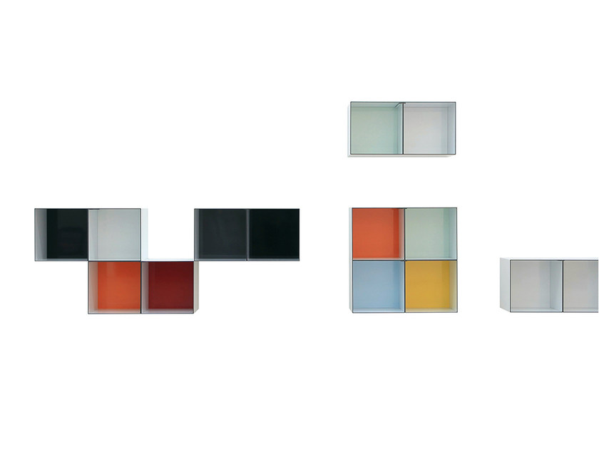 Open lacquered wall cabinet ONECASE | Wall cabinet - Onecollection