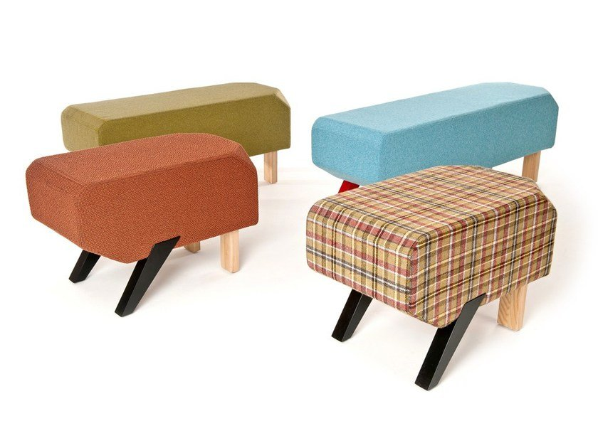 Upholstered fabric pouf POOCH by Sedes Regia