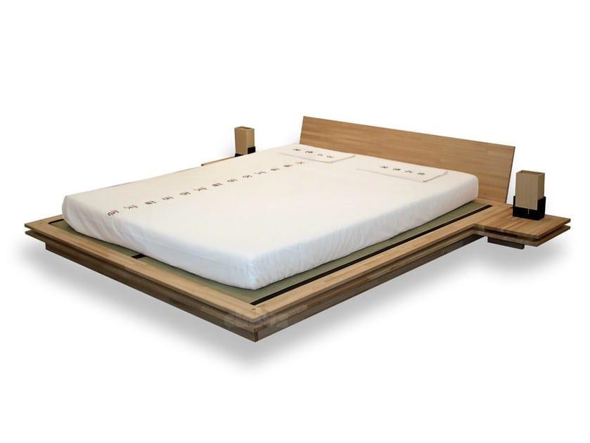 Tatami wooden double bed TOKI - Cinius