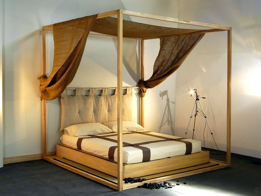 Tatami wooden canopy bed YASUMI | Canopy bed - Cinius