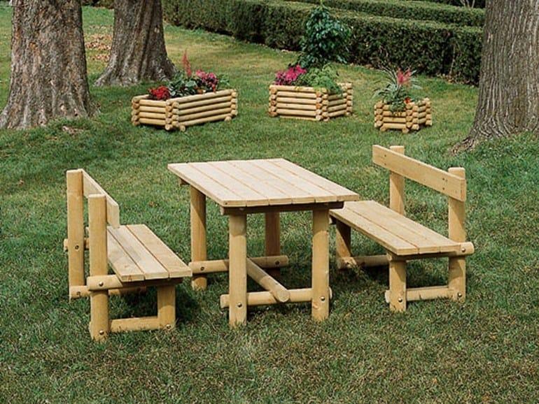 Panchina in legno montana legno panchina industria for Panchine arredo urbano prezzi