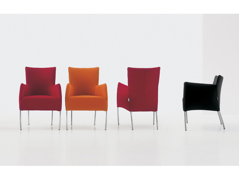 Upholstered armchair CHIARA by Nube Italia