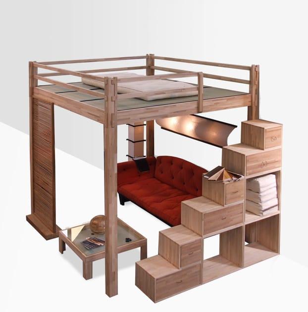 Letto a soppalco in legno yen letto a soppalco cinius - Letto soppalco legno ...