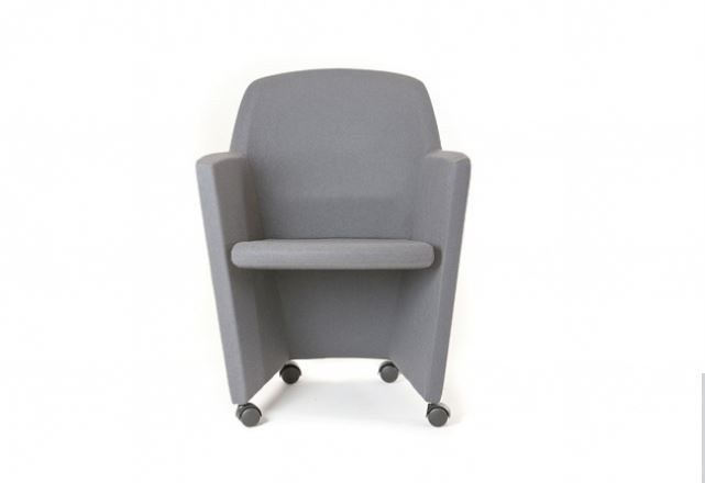 Contemporary style upholstered fabric guest chair with casters PRIMA by Sedes Regia