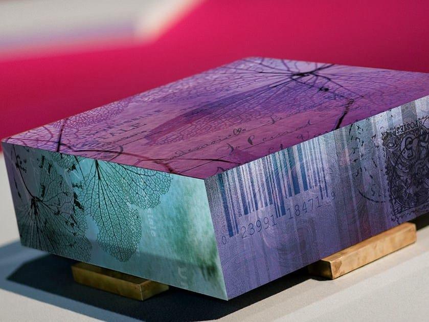 Low square resin coffee table WATERCOLOR | Coffee table - N.O.W. Edizioni