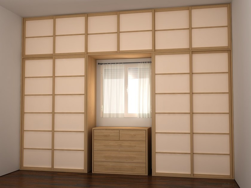 Parete manovrabile scorrevole in legno shoji parete - Parete divisoria mobile ...