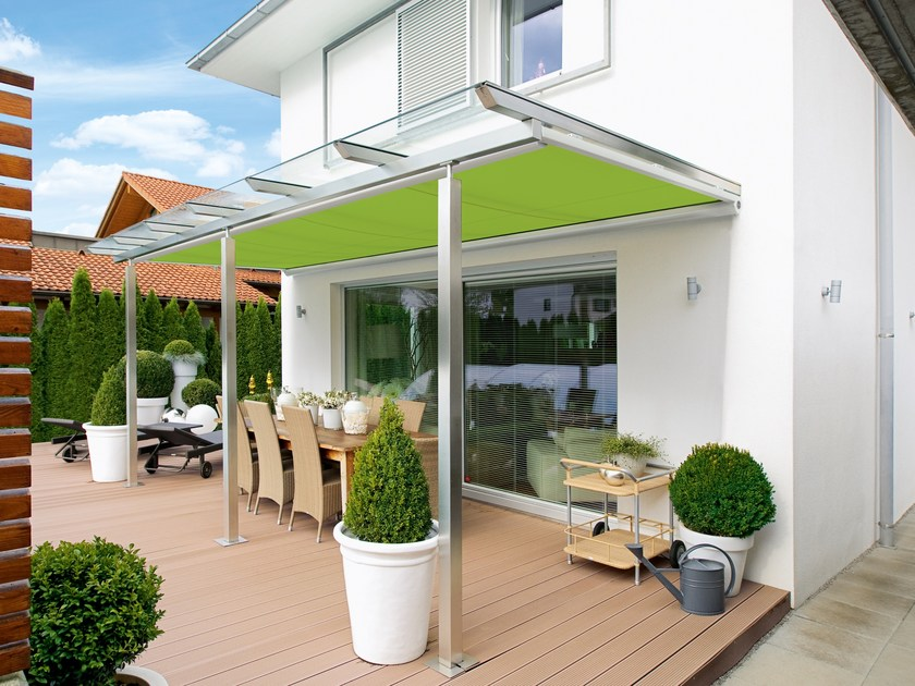 Box awning with guide system MARKILUX 889-889 TRACFIX by markilux