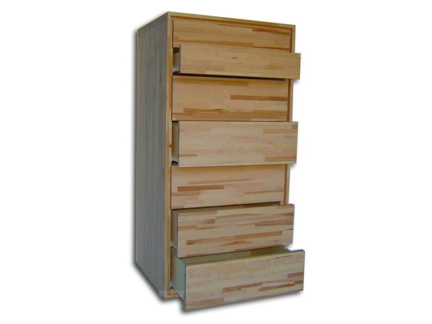 Free standing beech chest of drawers SETTIMINO - Cinius