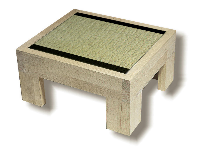 Rectangular wooden bedside table TATAMI | Bedside table - Cinius