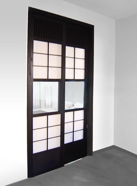 Porta scorrevole in legno porta scorrevole cinius - Porte scorrevoli stile giapponese ...